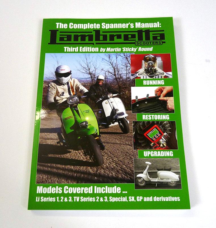 Lambretta Book  Lambretta Spanners Manual By Sticky  3rd Edition  Series 1  2  3  Gp