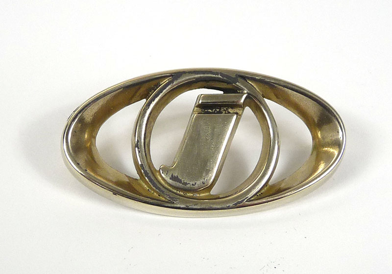 Lambretta Horn casting badge, 'I' Gp, Brass, MB